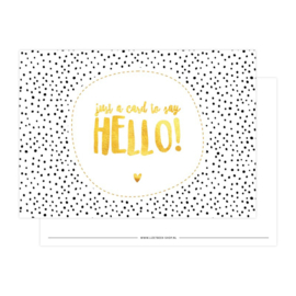 Ansichtkaart | Just a card to say hello!