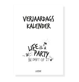 Verjaardagskalender - Life is a party