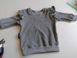 Sweater badstof grijs