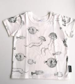 Shirt vissen grijs