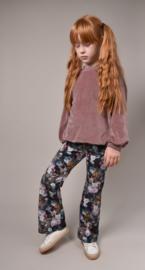 Sweater velours oud-mauve