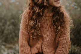 Chunky Knitted Sweater - CORAL