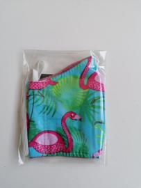 Mondkapje flamingo roze