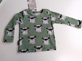 Tshirt pugs groen