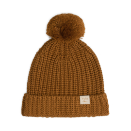 Chunky Knitted Beanie - GOLD
