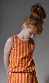 Tshirt streep ginger/oranje