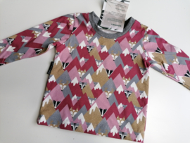 Longsleeve vosjes roze 80/86