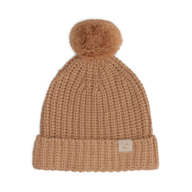 Chunky Knitted Beanie - CORAL