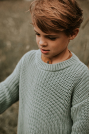 Chunky Knitted Sweater - OCEAN