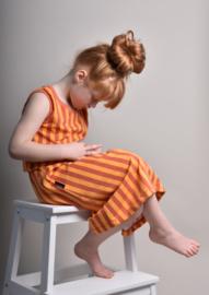 Rok streep ginger/oranje