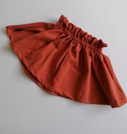 High waist ruffel rok