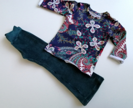 Sweater paisley paars/donkerblauw