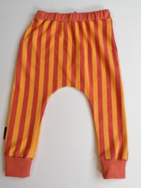 Broekje streep ginger/oranje