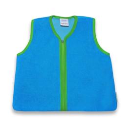 Trappelzak met naam turquoise/groen