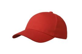 Kindercap rood met naam