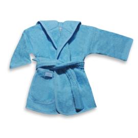 Badjasje zachtblauw met naam (0-12 maanden)