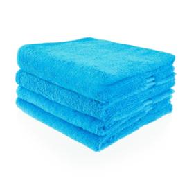 Handdoek turquoise met naam (50x100 cm)