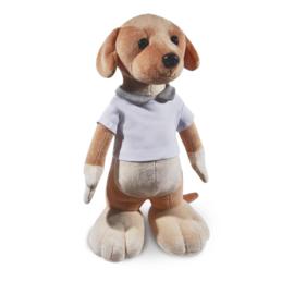 Staande hond met naamshirt (45 cm)