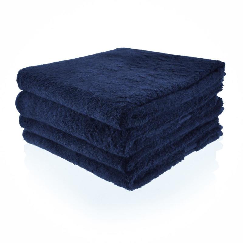 Handdoek marine met naam (50x100 cm)