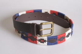 """PAMPEANO Argentijnse Polo Riem """"Red White & Blue"""""""