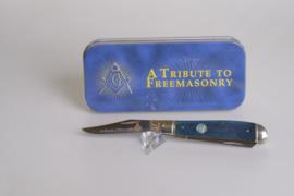 Rough Rider Masonic Blue Bone Mini Trapper