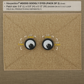 Maxpedition GOOGLY EYES PATCH