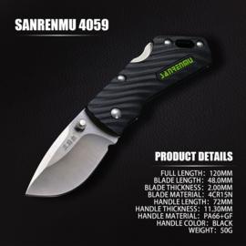 SRM 4059 mini mes, zwart lemmet
