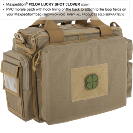 Maxpedition LUCKY SHOT CLOVER PATCH Black