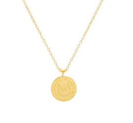 Old Coin Ketting - Goud & Zilver