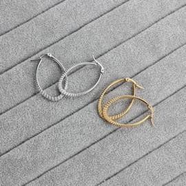 Oval Creolen - Goud & Zilver