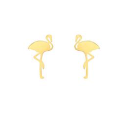 Flamingo Oorbellen - Goud