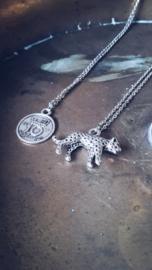 Leopard Ketting - Goud & Zilver