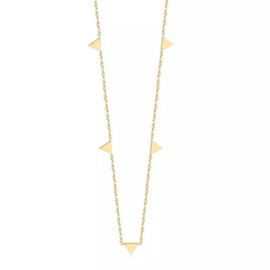 Triangle Ketting - Goud & Zilver