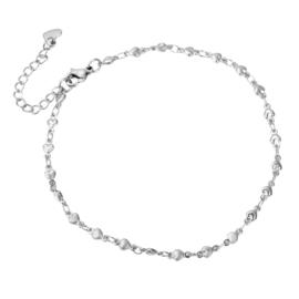 Heart Enkelbandje - Goud/zilver