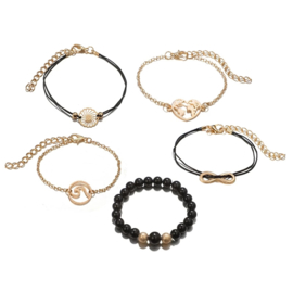 Charm Set Armbanden - Goud