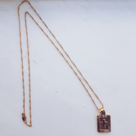 T Square Ketting - Goud