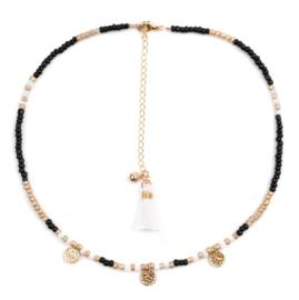Beads choker - goud