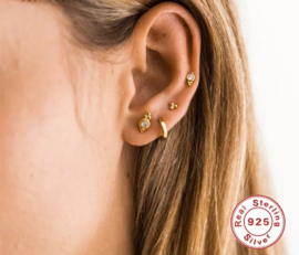 Mini Roxi oorbellen - Goud/Zilver
