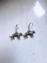 Luipaard Oorbellen - Goud/Zilver