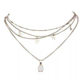 Layer choker - Zilver