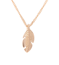 Feather Ketting - Goud