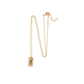 Quote Tag Ketting Love - Goud