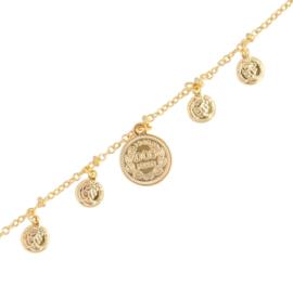 Moneda ketting - Goud/zilver