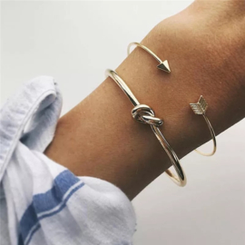 Knot Bangle Armband - Goud