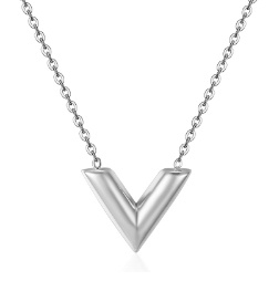 V Shaped Ketting - Goud & Zilver
