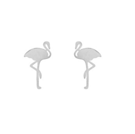Flamingo Oorbellen - Zilver