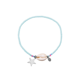 Shell en Star Armbandje - Blauw