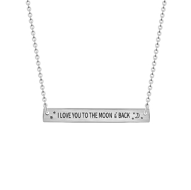 Love you to the moon & back ketting - Goud & Zilver