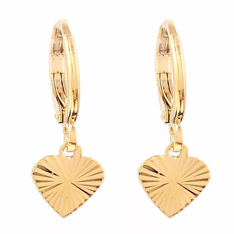 Tiny Hearts oorbellen - Goud