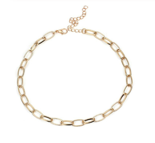 Chain Beads choker - Goud & Zilver